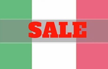 מכירות סוף העונה באיטליה